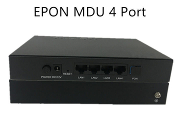 EPON MDU ONU 4GE port applyingy in Monitoring service support port isolation