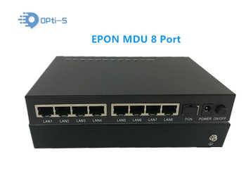 100M 8 Ports MDU ONU Support WEB Management For FTTB Network Solution