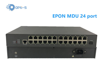 24FE Ports GEPON ONU MDU Ethernet Passive Optical Network Unit Single Fiber