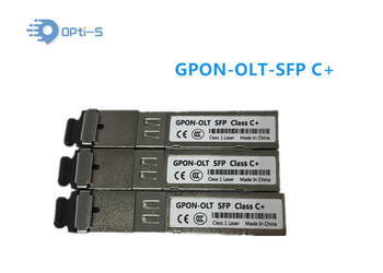 High Efficiency GPON OLT Transceiver Class C+ 2.488G Downstream 1.244G Upstream - Fttx-xpon.com